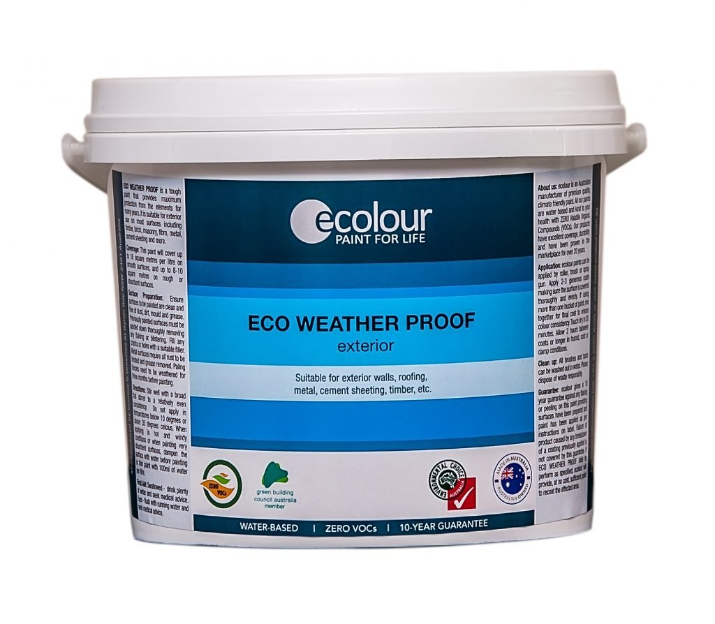 Eco weather proof exterior paint zero voc ecolour - Temperature for exterior painting ...