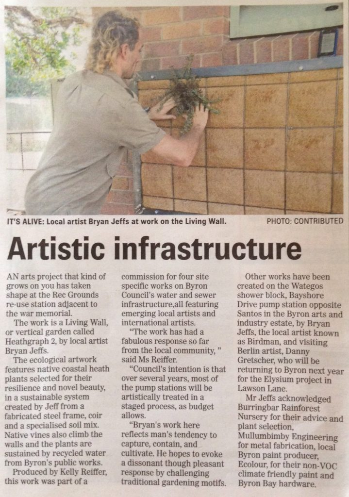 Byron Shire News - Artistic Infrastructure Article